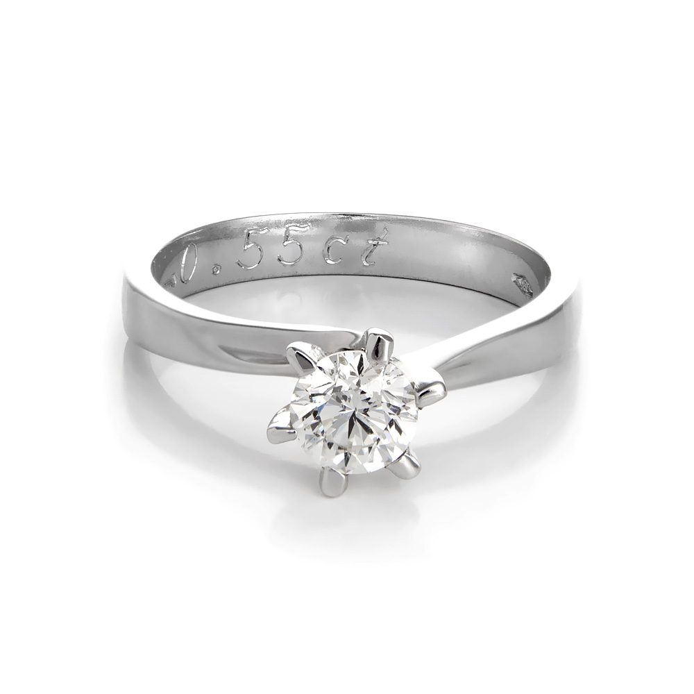 Μονόπετρο δαχτυλίδι λευκόχρυσο 18K με διαμάντι  a9c9704deda