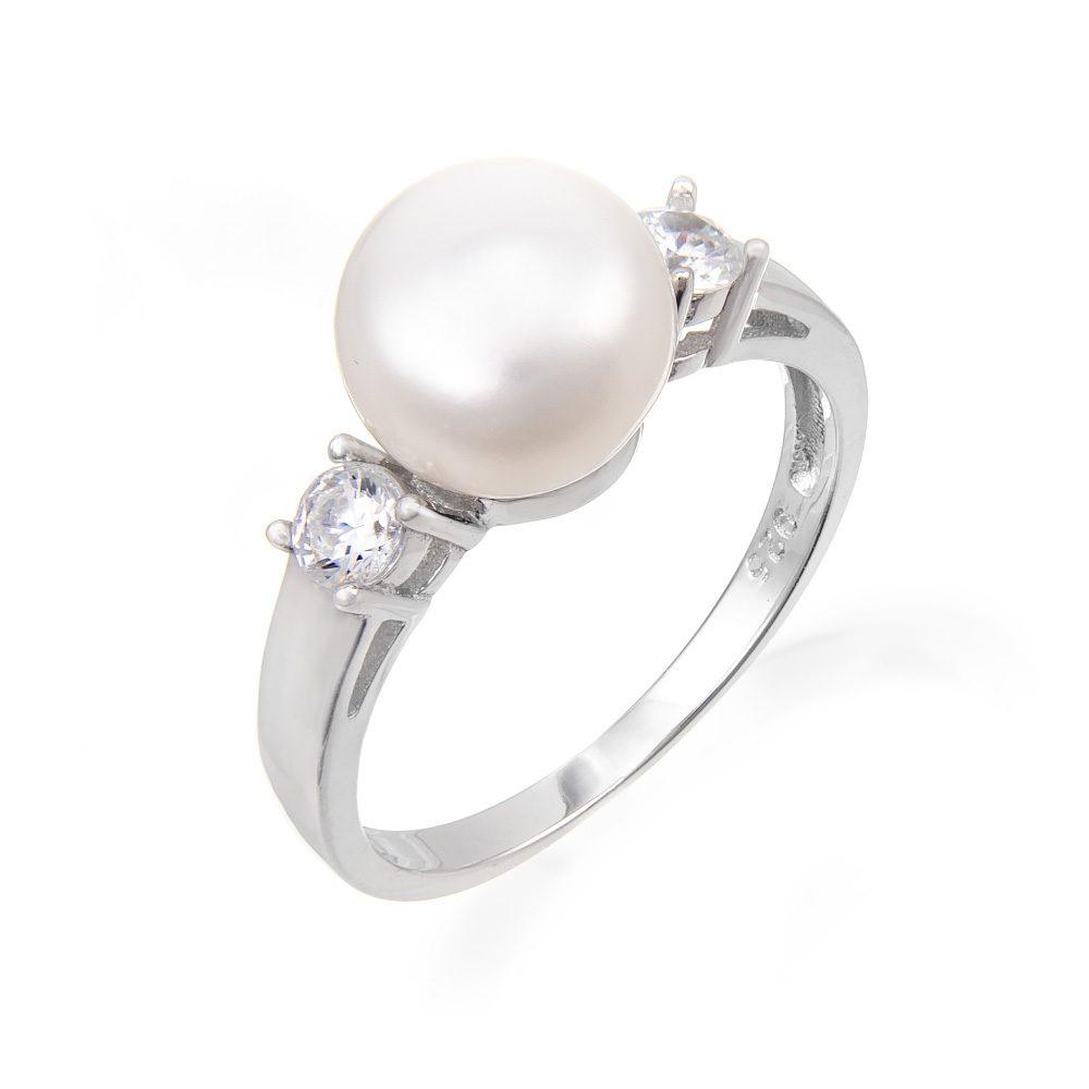 Δαχτυλίδι με μαργαριτάρι και ζιργκόν