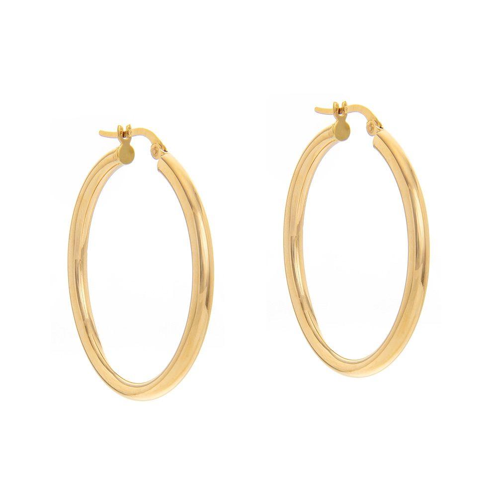 bafd50e1cc Σκουλαρίκια › Σκουλαρίκια κρίκοι χρυσοί 18Κ. Χρυσά σκουλαρίκια κρίκοι 18  καράτια