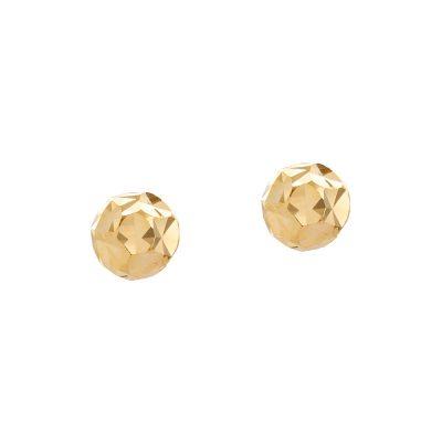 Χρυσά σκουλαρίκια μικρά σφαιρικά 14 καράτια