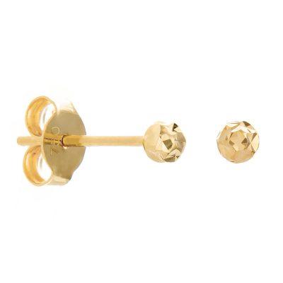 Χρυσά σκουλαρίκια μικρά σφαιρικά 14 καράτια καρφωτά