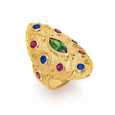 Επίχρυσο βυζαντινό δαχτυλίδι