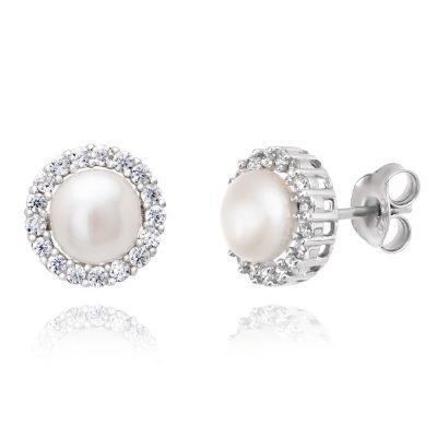 Κλασσικά γυναικεία σκουλαρίκια με μαργαριτάρια