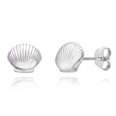 Καλοκαιρινά σκουλαρίκια κοχύλι από ασήμι